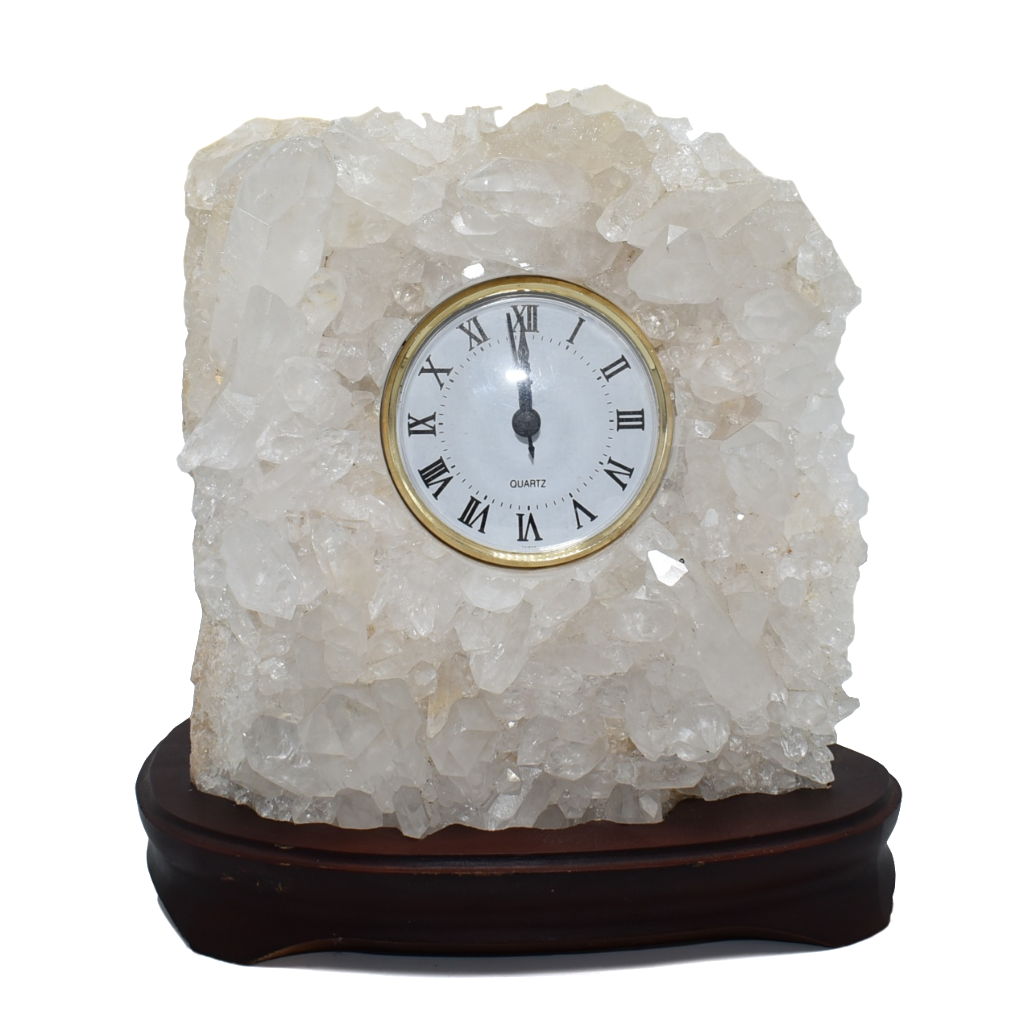 Quartz-Clock-Wood Base