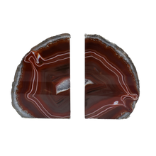 Load image into Gallery viewer, Agate Bookend Silver Electroplated Premium Quality