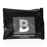 Flowpack B passion choc coated liquorice