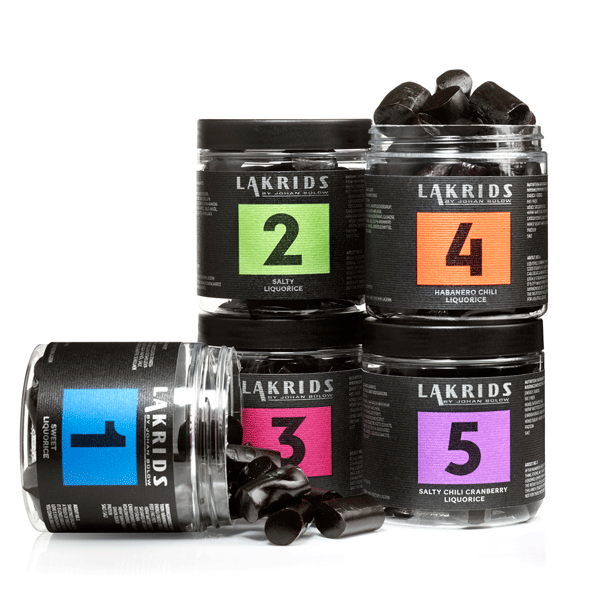 5 jars of liquorice