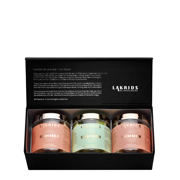 Giftbox with summer editions peach and elderflower