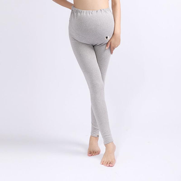 Elasticated Cross-Belt Low Waist Cotton Pregnant Leggings