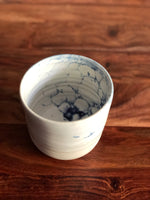 Blue bubble-glazed utensil holder