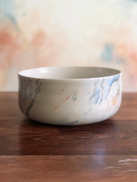 Hand-painted medium serving bowl
