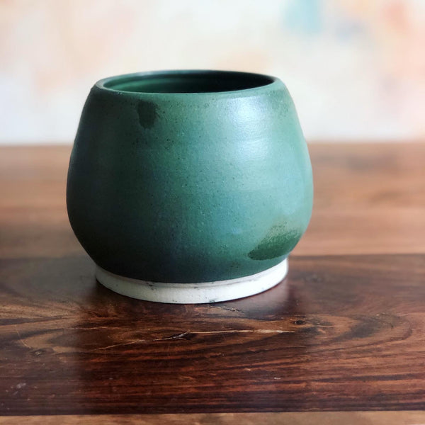 Teal green planter or vase no.1