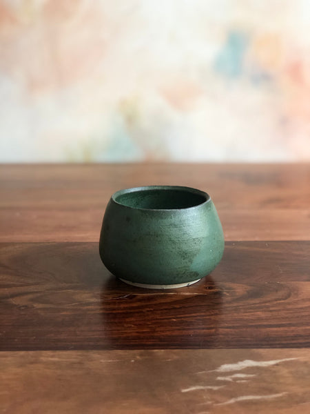 Tiny green gumnut bowl