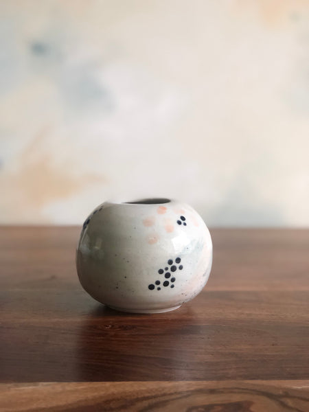 Small round patterned vase