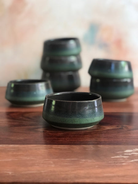 Angled green tea bowl