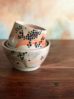 Peach splatter vase