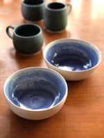 Blue pool cereal bowls