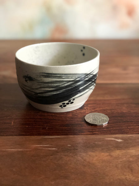 Small brushstroke rice bowl