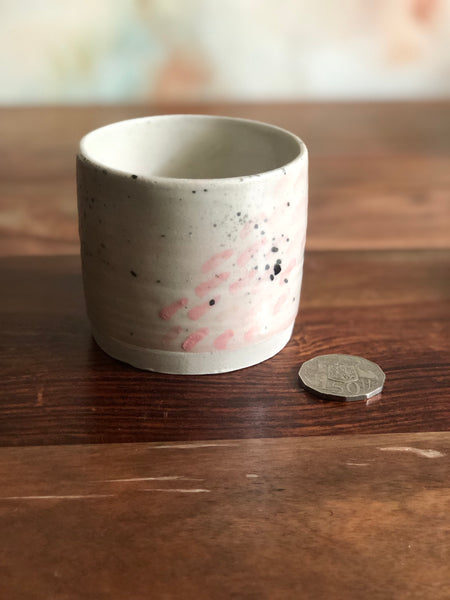 Painted splatter cup