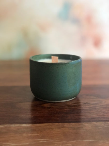Dark green candle cup
