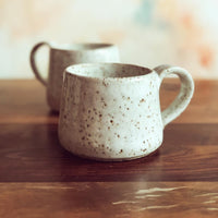 Speckled white gumnut mugs