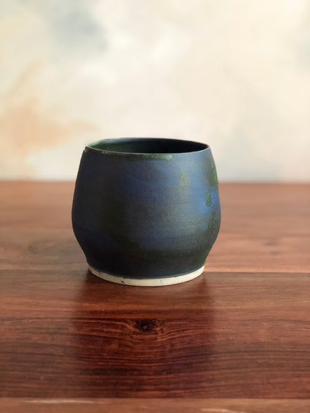 Matte green small planter or vase no. 1
