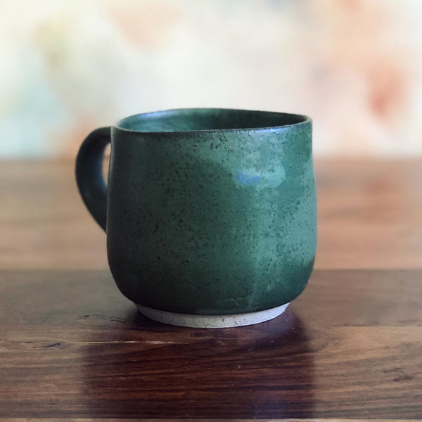 Medium matte green gumnut mug - second