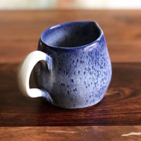 Small blue and white pitcher jug