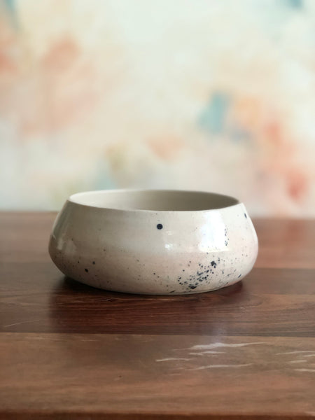 Pink spattered gumnut bowl