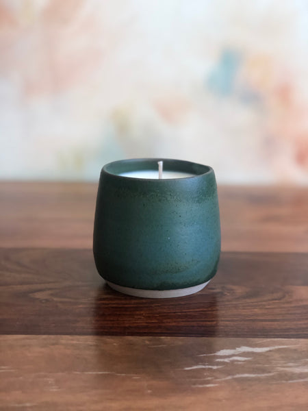 Dark green candle cup no.2