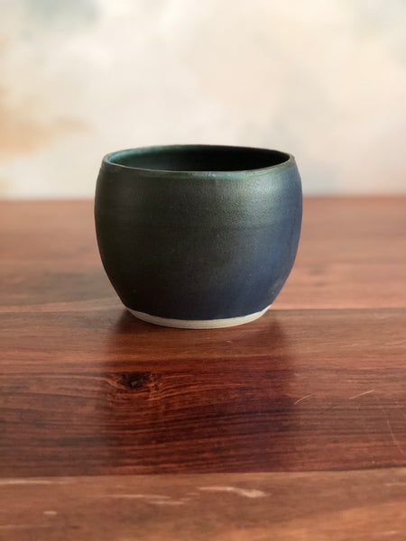 Matte green small planter or vase no. 4