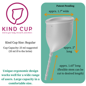 Kind Cup menstrual cup measurements