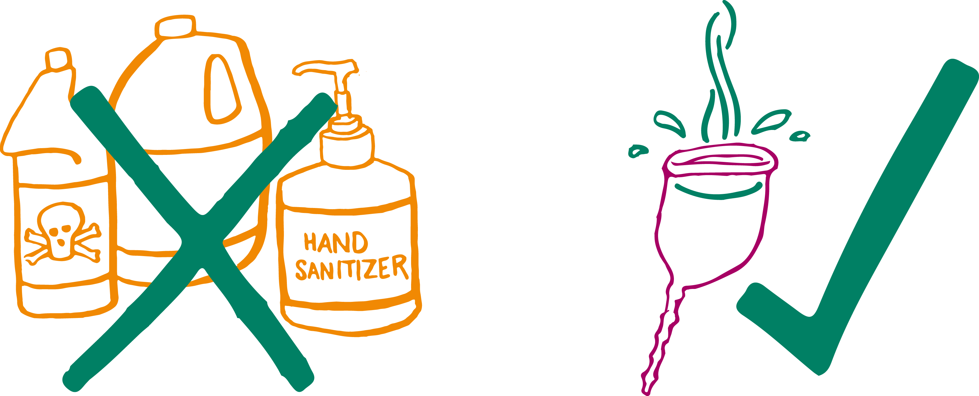 Wash with Plain Water