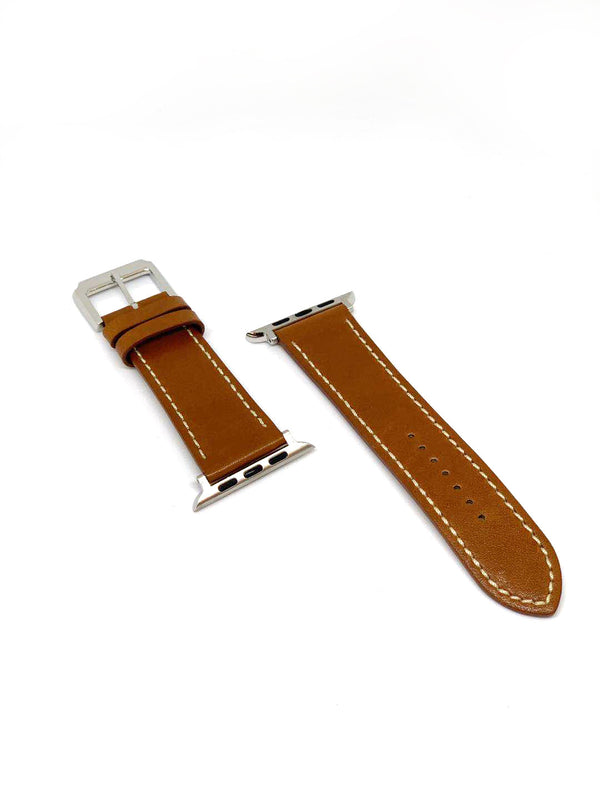 Apple Watch Straps - Brown with stitching