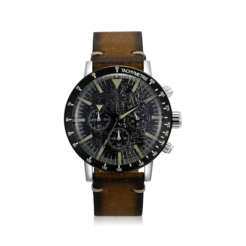 Vintage Chronograph Watch - Brown