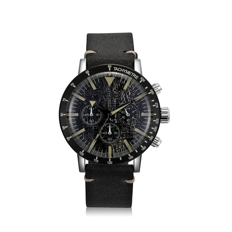 Vintage Chronograph Watch - Black
