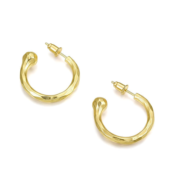 Semicircle Gold Earrings