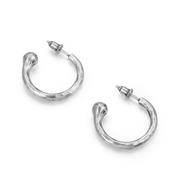 Semicircle Silver Earrings