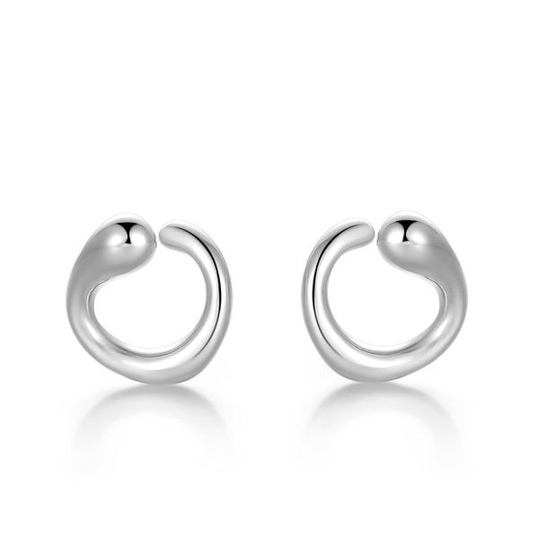 Semicircle Modern Earrings (Gold / Silver)