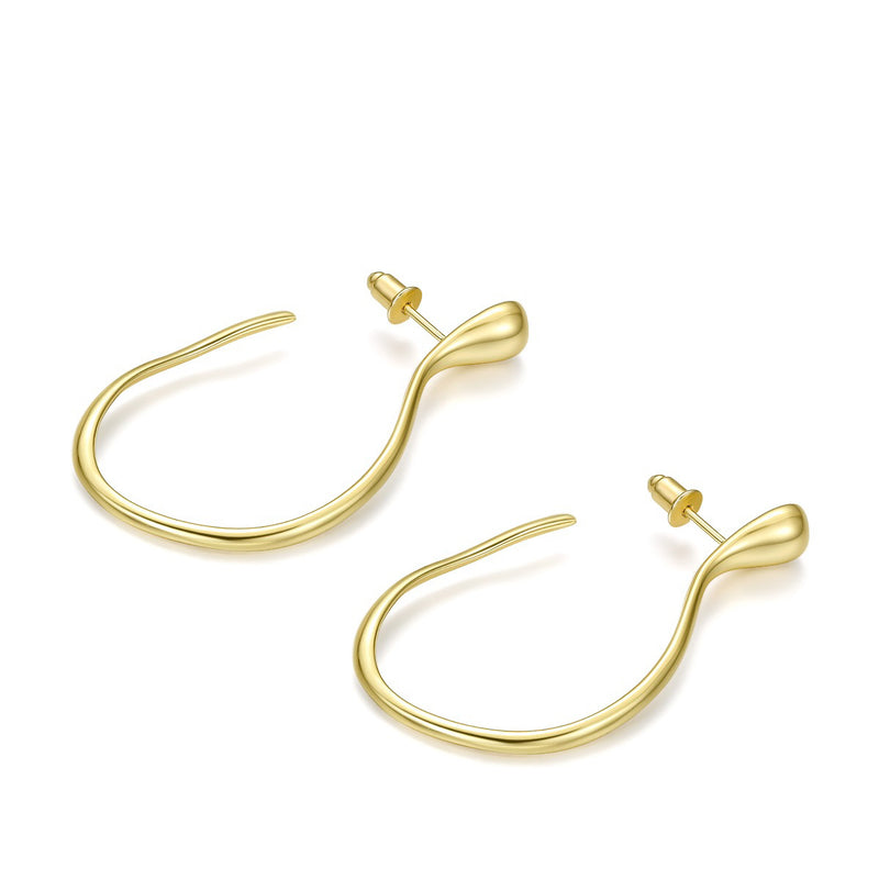 Opened Ellipse Earrings (Gold / Silver)