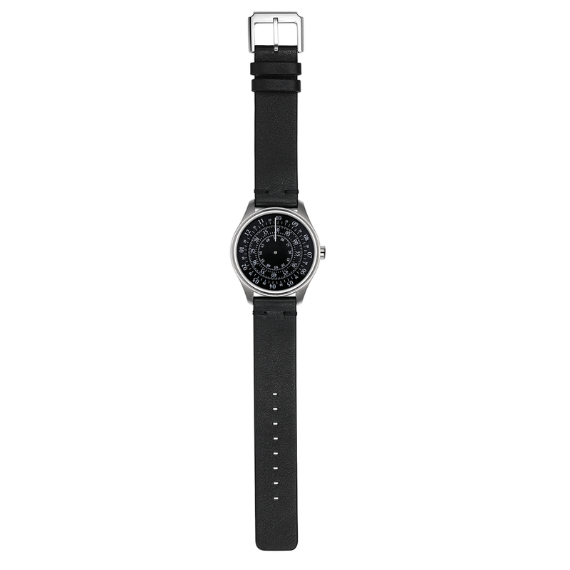 Turning Disk Automatic Watch - Black