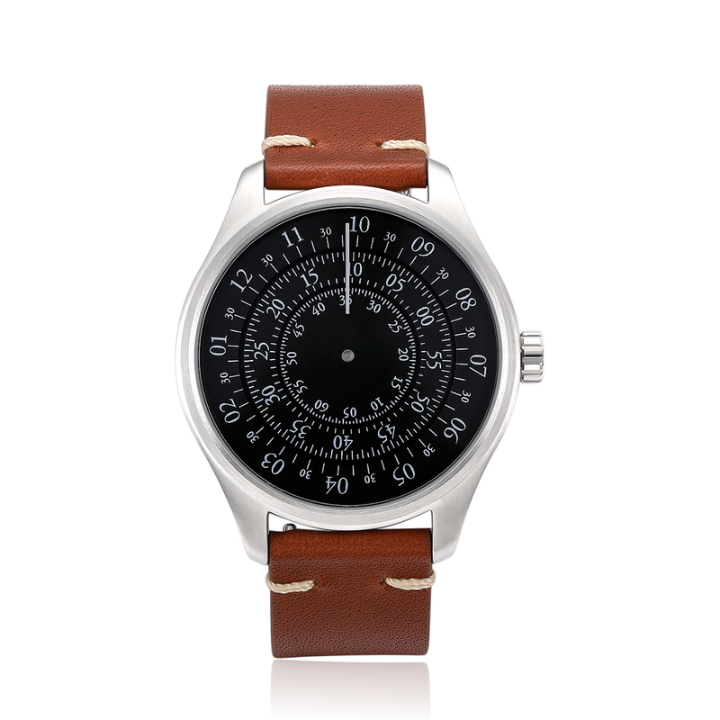 Turning Disk Automatic Watch - Brown