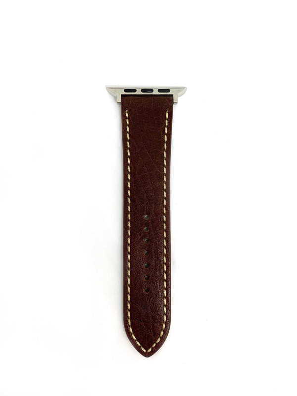 Apple Watch Straps - Dark Brown with stitching