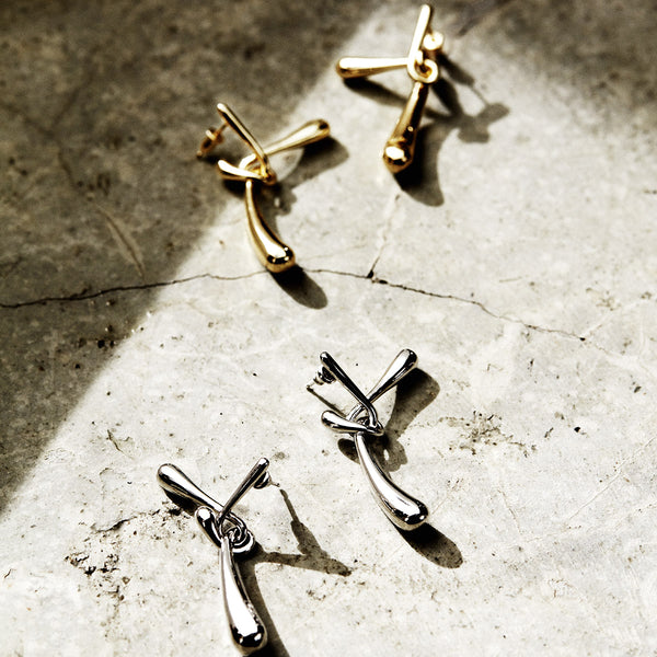 Cross Twine Earrings (Gold / Silver)