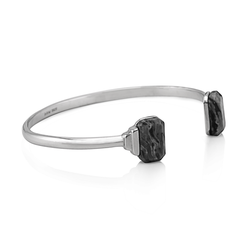 Picture Stone Rhodium Plating Bangle
