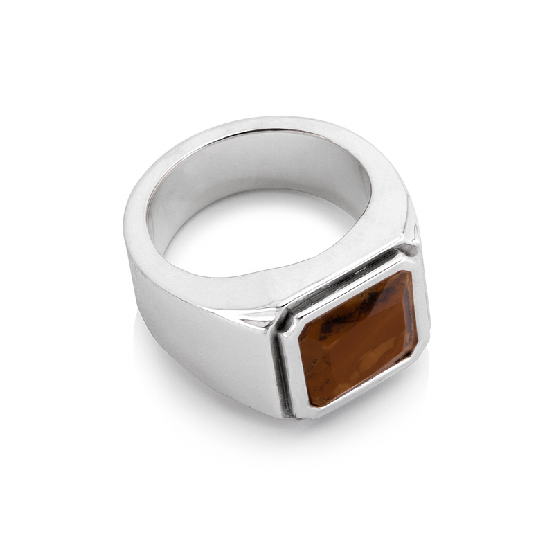 Wood Grain Opal Ring