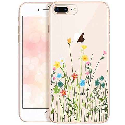 Coque de protection pour iPhone SE 2020 Motif floral ultra fin en silicone  TPU pour iPhone XS Max/iPhone 7 8 Plus