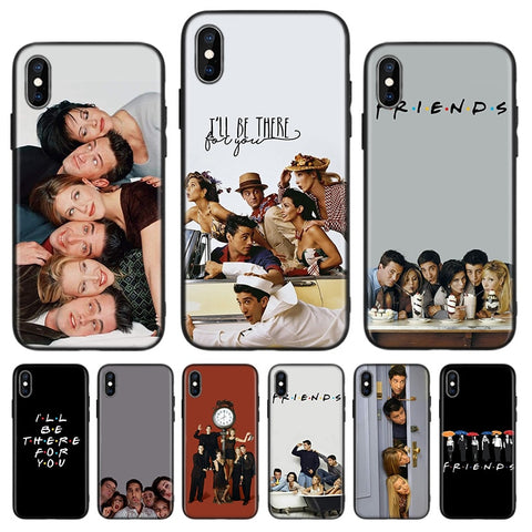 Friends TV Show Coque souple pour iPhone 5 S SE 6 6 S 7 8 Plus X XS Max XR  11 Pro Max