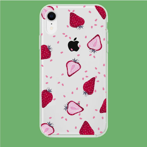 Fruit Strawberry coque clear iphone XR