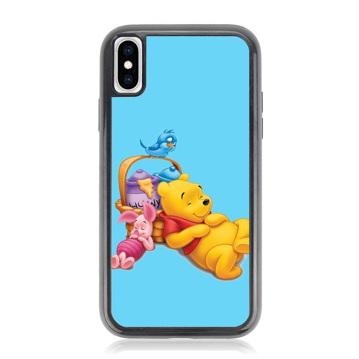 Funny Winnie The Pooh and Piglet Z1060 iPhone X, XS coque