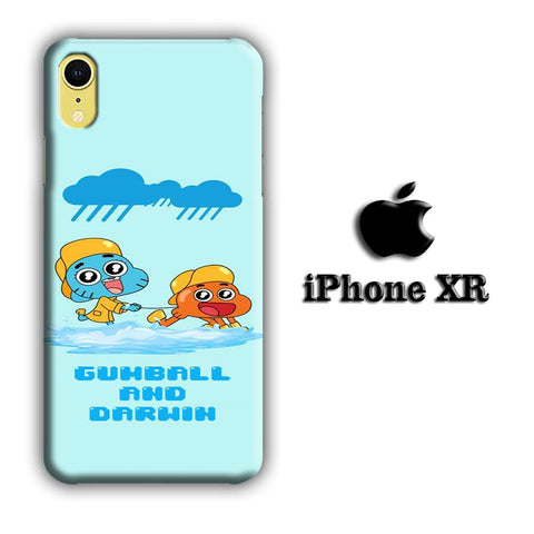 Gumball And Darwin With Rain coque 3D iPhone XR