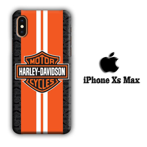 Harley Davidson Orange Stripe White coque 3D iPhone Xs Max
