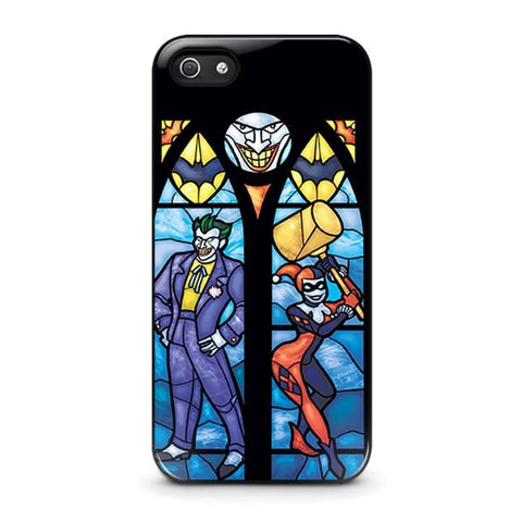 JOKER AND HARLEY QUINN ART iPhone 5 / 5S / SE coque Cover