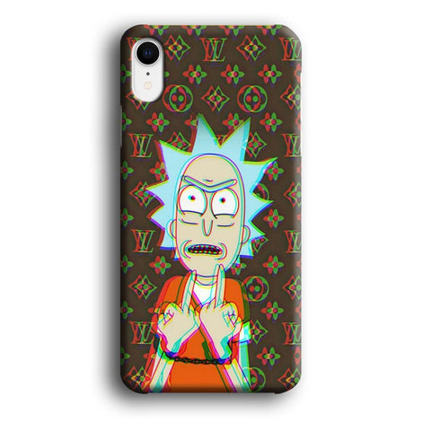 Louis Vuitton Rick And Morty Angry Style coque 3D iPhone XR