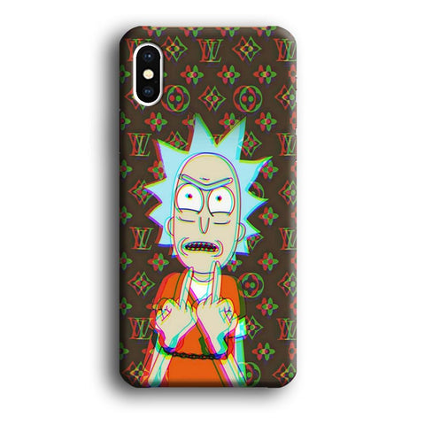 Louis Vuitton Rick And Morty Angry Style coque 3D iPhone Xs Max
