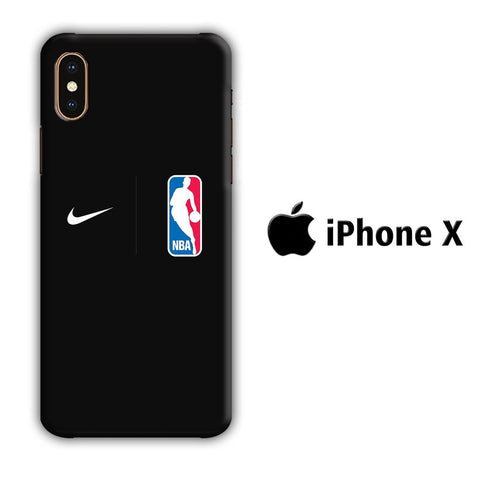 NBA Nike Black coque 3D iphone X