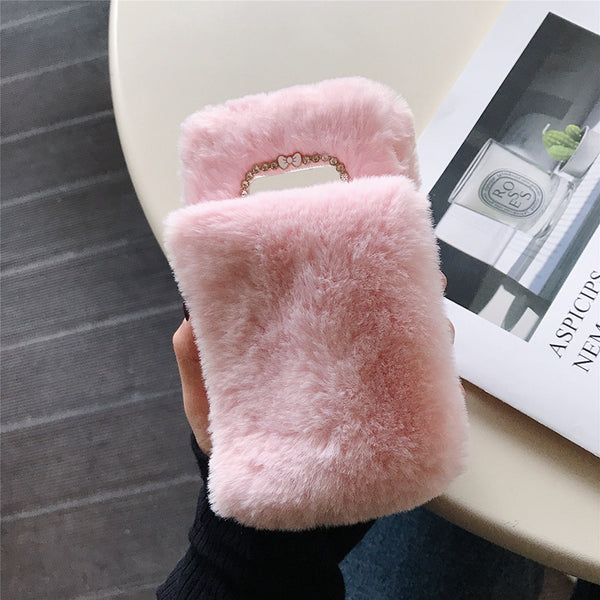 Keep Warm Wrist Belt Iphone5c Hand Case Iphonese Plush Ip5s Apple Se Winter Iohone4s Edition Yolk